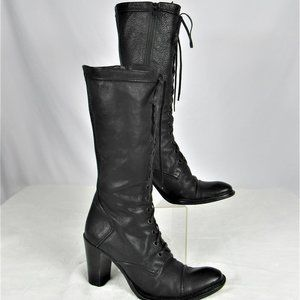 Kenneth Cole NY Leather an Lace II Zipper Mid-Calf